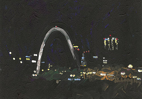 St. Louis Riverfront 1 by Helena M Langley