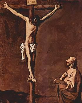 Zurbaran Francisco de - St Luke As A Painter Before Christ On The Cross