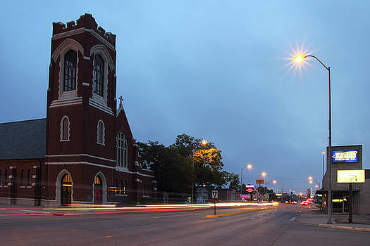St. Luke's Protestant Episcopal Church - Kearney, Nebraska by Andrea Kelley