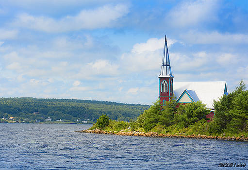 St Marks in Middle LaHave Nova Scotia by Ken Morris