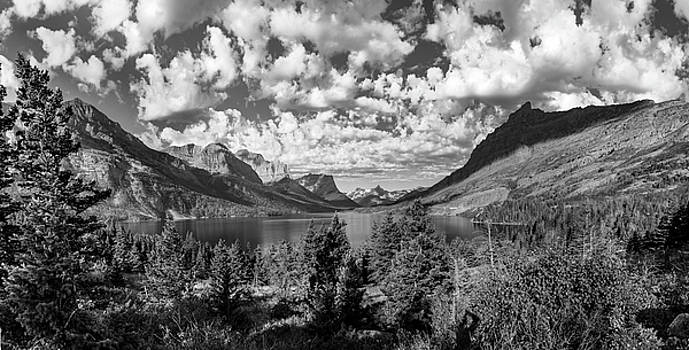 St Mary Lake Glacier National Park Panoramic by John McGraw