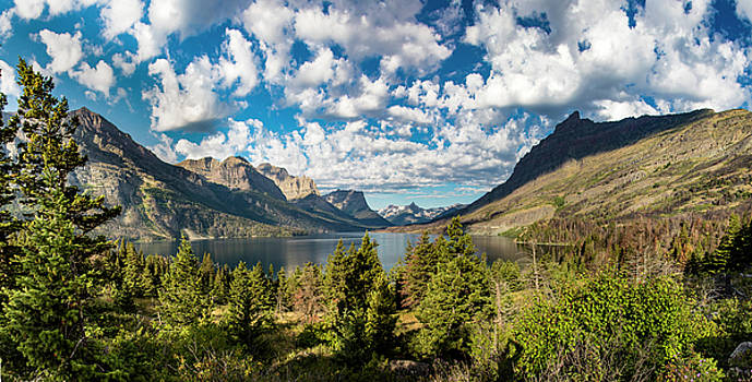 St Mary Panoramic Glacier national park by John McGraw