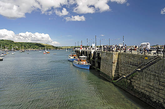 St Mawes Ferries alongside the Pier by Rod Johnson