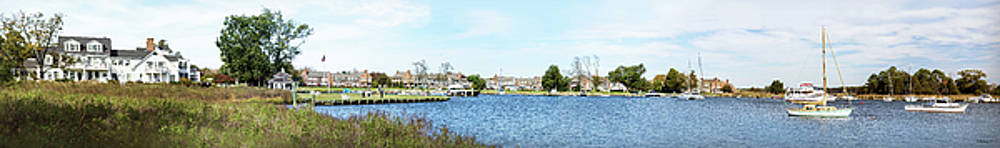 St. Michaels MD - Waterfront Pano by Brian Wallace