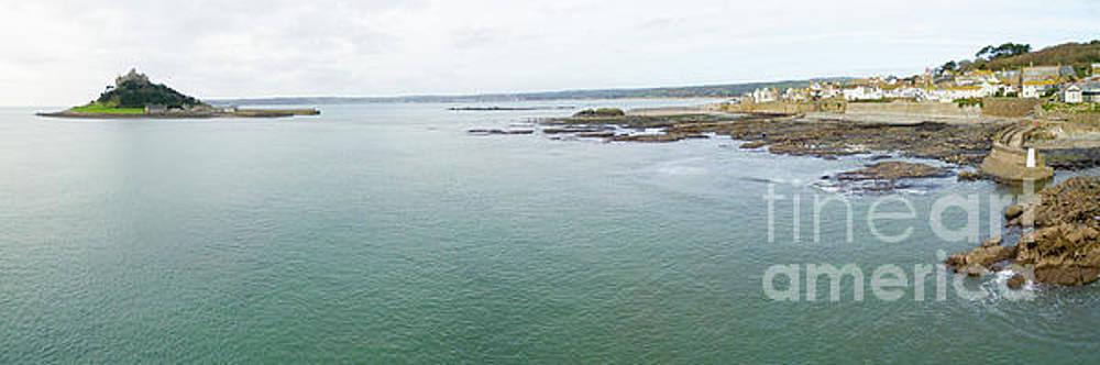 St Michaels Mount bay aerial by Steev Stamford