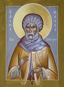 St Moses the Ethiopian by Julia Bridget Hayes