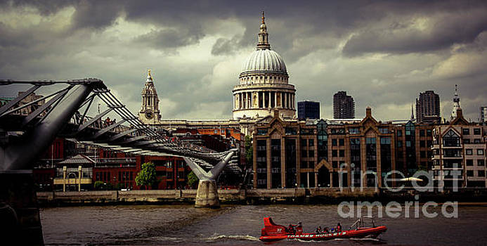 St. Paul's and the Millennium Bridge by Marina McLain