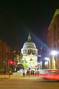 St Pauls at Night by Anne Kotan