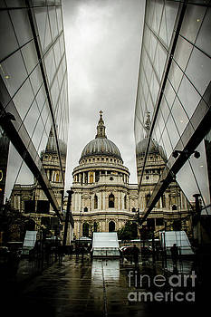 St. Paul's on a Foggy London Day by Marina McLain