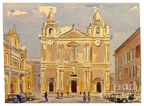 St Paul's Square Mdina by Godwin Cassar