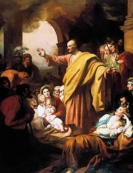 West Benjamin - St Peter Preaching At Pentecost