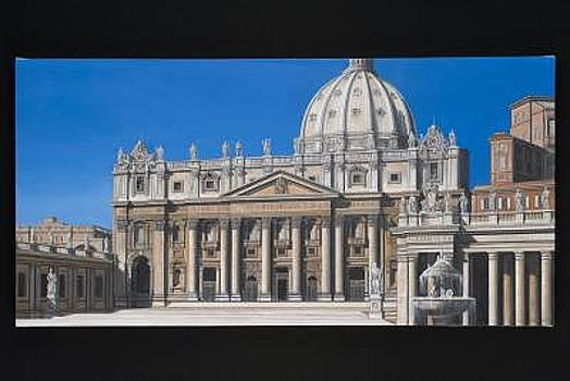 St Peters In Rome by Joseph Greenawalt