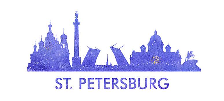 Vyacheslav Isaev - St. Petersburg  city purple skyline