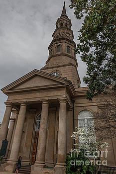 St. Phillips Church Bell Tower in Charleston South Carolina by Dale Powell