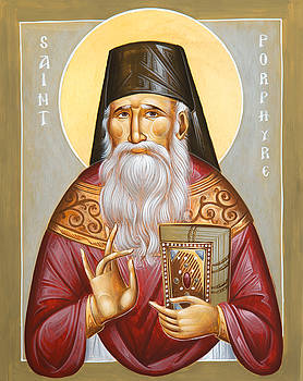 St Porphyrios of Kavsokalyvia by Julia Bridget Hayes