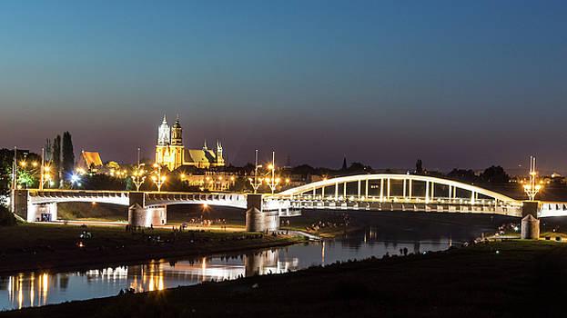 Jacek Wojnarowski - St. Rocha Bridge with Poznan Cathedral