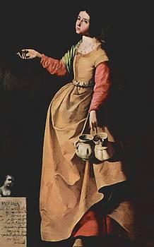 Zurbaran Francisco de - St Rufina Of Seville 1640