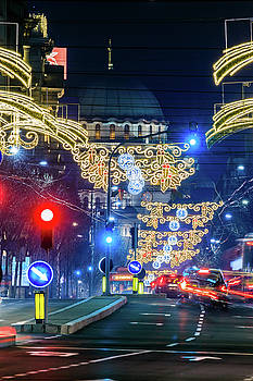 St. Sava Temple in Belgrade playing hide and seek with the Christmas decorations by Dejan Kostic