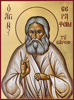 St Seraphim of Sarov by Julia Bridget Hayes