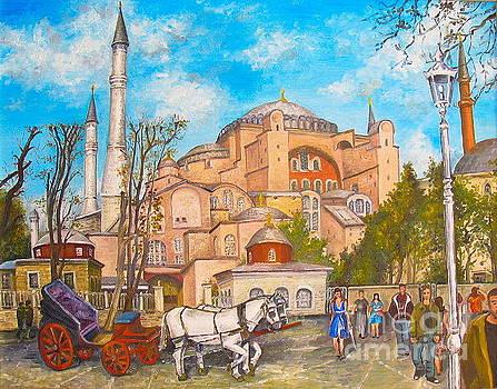 St. Sophia in Istanbul by Elena Yalcin