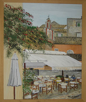 St. Spiridon Square - old Corfu Town by Anna Witkowska