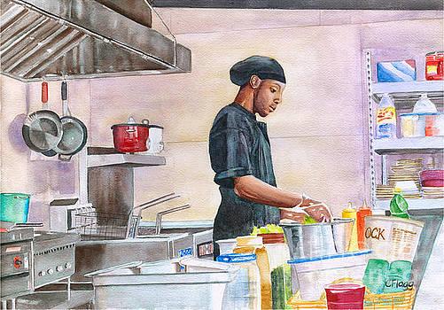 St Thomas Chef Kareem by Carol Flagg