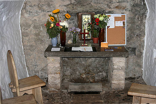 St. Trillo's Chapel - North Wales - Interior by John Quigley