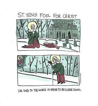 St. Xenia Fool For Christ by Laura Wilson