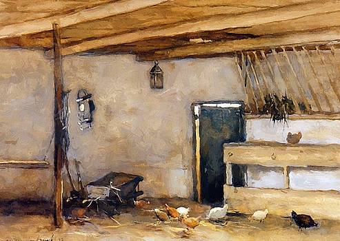 Weissenbruch Johan Hendrik - Stable With Chickens