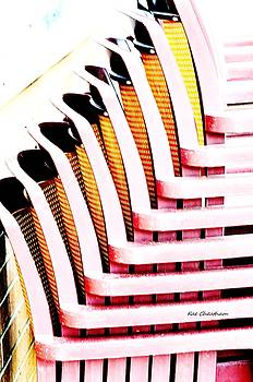 Kae Cheatham - Stacked Chairs Abstract