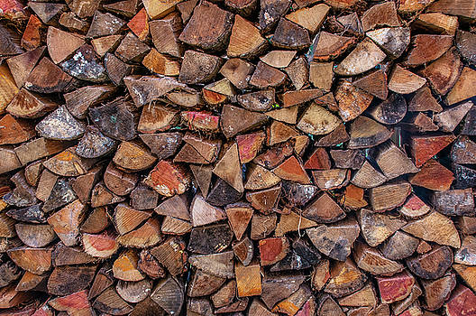 Stacked Firewood by Jim Moore