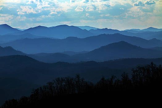 Stacked Mountains in Smoky Mountains of Tennessee by Carol Mellema