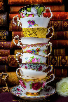 Stacked Tea Cups by Garry Gay