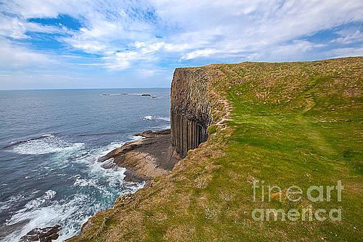 Staffa Island in Inner Hebrides Scotland by Christy Woodrow