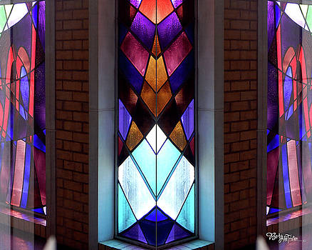 Stained Glass #4723 Outer illusion 2a by Barbara Tristan