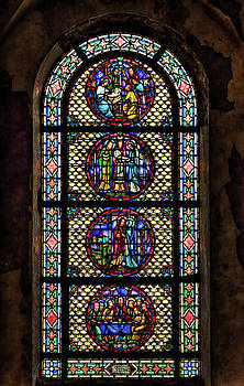 Stained Glass at the abandoned monastery 1 by John Hoey