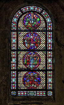 Stained Glass at the abandoned monastery 3 by John Hoey