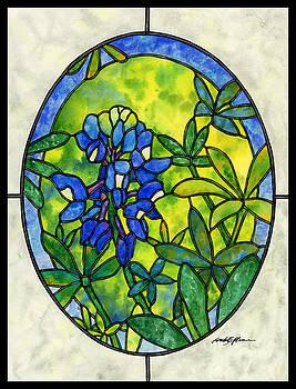 Hailey E Herrera - Stained Glass Bluebonnet