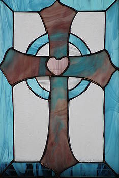 Stained glass cross by Ralph Hecht