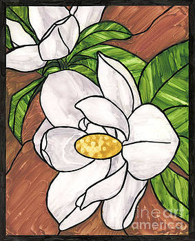 Stained Glass Magnolias by Brandy Woods