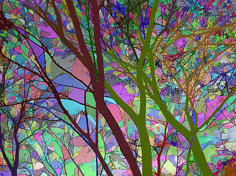 Stained Glass Nature Two by Cj Grant