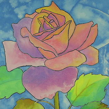 Stained Glass Rose  by Pat Gerace