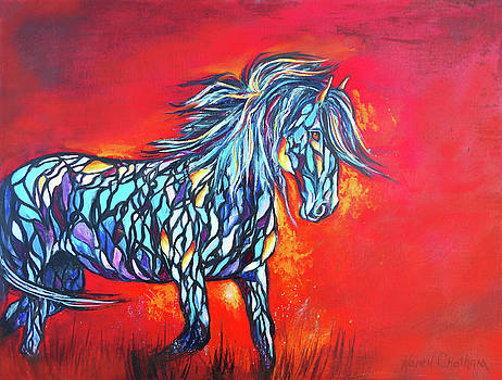 Stained Glass Stallion by Karen Kennedy Chatham