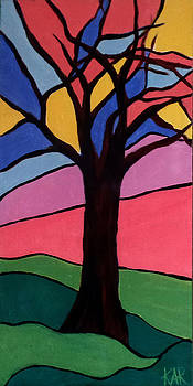 Stained Glass Tree by Art by Kar