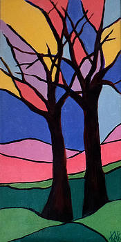 Stained Glass Trees by Art by Kar