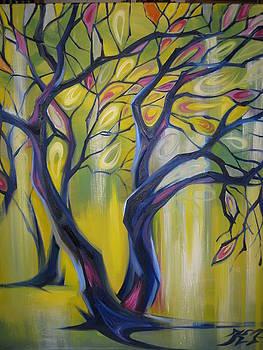 Stained Glass Trees by Ekaterina Pozdniakova