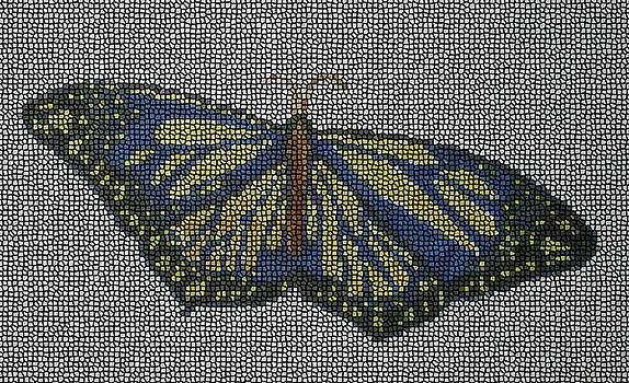 StainedGlass Butterfly by Ramon Bendita