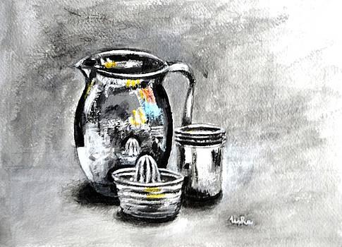 Usha Shantharam - Stainless Steel Still Life Painting