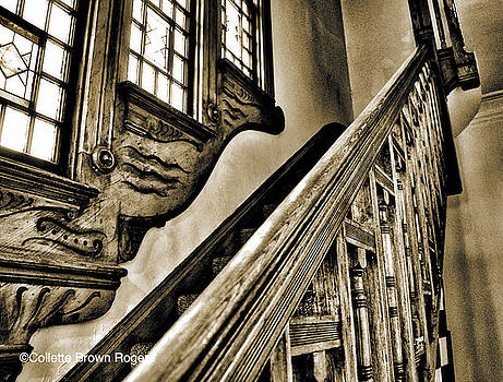 Stair way in Greenstone Church by Collette Rogers