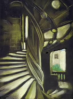 Staircase at Blois Castle by Ruth Seal